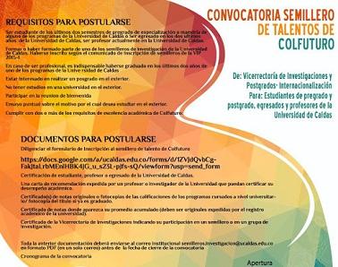 U de caldas lo invita a inscribirse en convocatoria para for Convocatoria docentes exterior