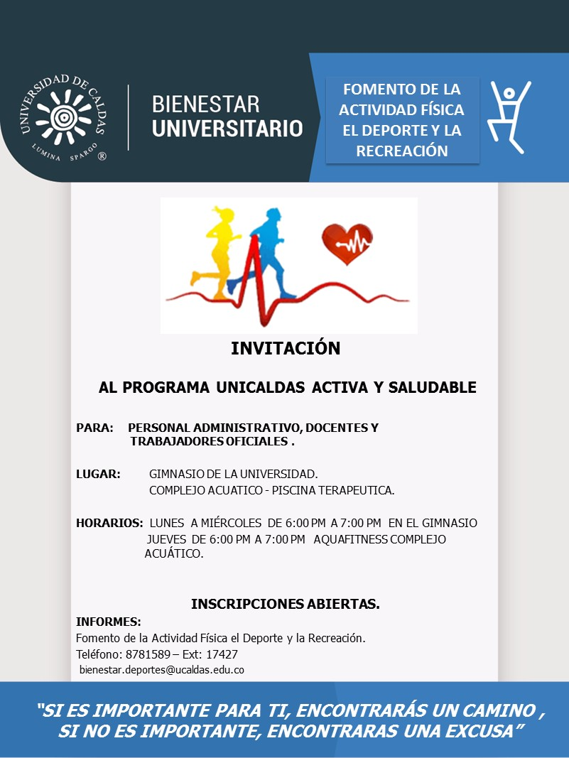 MAILING UNICAL ACTIVA Y SALUDABLE