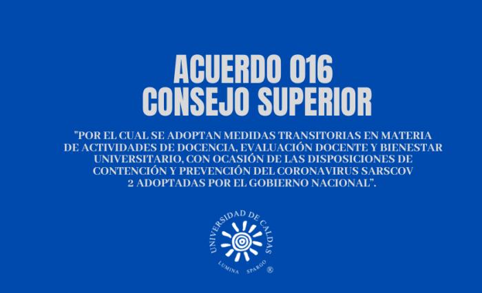 acuerdo 016 consejo superior